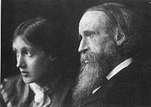 Portrait of Virginia Woolf with he rfather Leslie Stephen in 1902, by Beresford