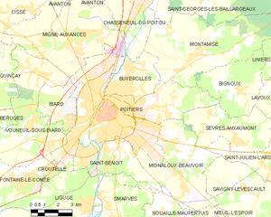 普瓦捷城区地图