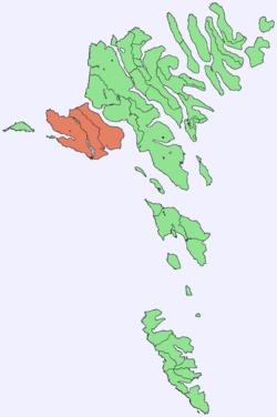 Position of Vágar on Faroe map.png