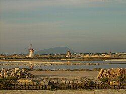 Salt evaporation ponds at Marsala