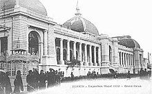 Photograph of the Grand Palais building in Hanoi