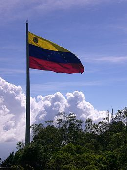 Flag of Venezuela, Cerro El Ávila.JPG
