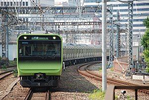 JRE E235 Yamanote Line 04 set Akihabara Station 2017-07-09 (35765917051).jpg
