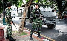 2014 0526 Thailand coup Chang Phueak Gate Chiang Mai 02.jpg