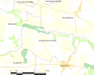 瓜昂河畔吉莱市镇地图