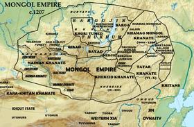 1207年的蒙古高原部落