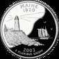 Maine quarter dollar coin
