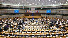 European parliament hemicycle in Brussels, Belgium