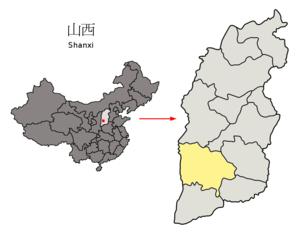 图中高亮显示的是临汾市