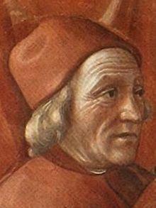 Marsilio Ficino from a fresco painted by Domenico Ghirlandaio in the Tornabuoni Chapel, Santa Maria Novella, Florence
