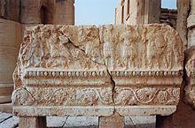 Stone relief depicting warriors