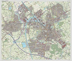 Topographic map of Almelo, Sept. 2014