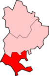 南贝德福德在贝德福德郡的位置