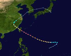 颱風瓊安的路径图