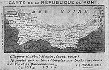 Drawn map of Pontus region