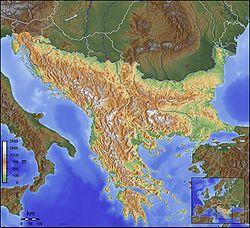 Skopje is located in Balkans