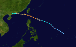 超强台风爱尔茜的路径图