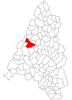 Location within Bihor County