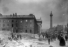 The shell of the G.P.O. on Sackville Street after the Easter Rising (6937669789).jpg