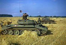 Tanks in a cornfield