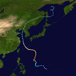 超强台风梅花的路径图