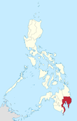 Map of the Philippines highlighting Davao Region