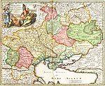 Ukrania quae et Terra Cosaccorum cum vicinis Walachiae, Moldoviae, Johann Baptiste Homann (Nuremberg, 1720)