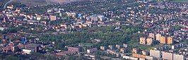 Aerial view of downtown Piekary Śląskie