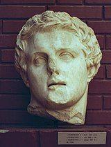 Bust head of Greek king