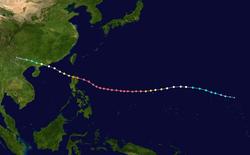 超强台风山竹的路径图