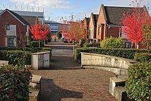 Gardens and artwork on Bartley Wilson Way
