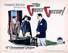 A lobby card advertising the 1926 Gatsby film