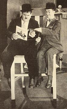 Laurel & Hardy reading The New Movie.jpg