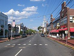 Main Street is the commercial heart of Newark. It is adjacent to the University of Delaware.