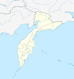 堪察加彼得巴甫洛夫斯克在堪察加边疆区的位置