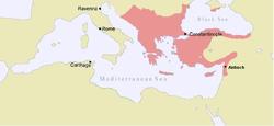 约1170年,曼努埃尔一世统治下的拜占庭帝国