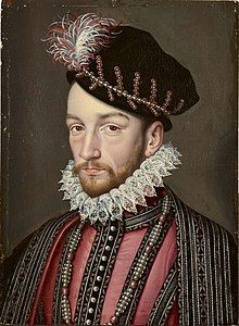 Portrait of King Charles IX of France (1550–1574), by After François Clouet.jpg