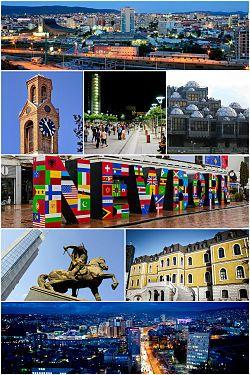 Photomontage of Pristina