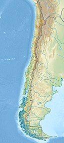 柴滕火山 西班牙语:volcán Chaitén在智利的位置
