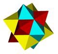 Three flattened octahedra compound.png