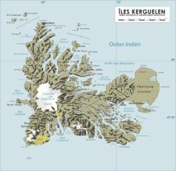 凯尔盖朗群岛地图