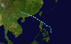 台风妮妲的路径图