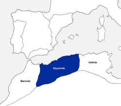 The kingdom of Tlemcen at the beginning of the 14th century.[1]