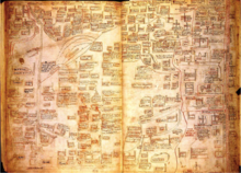 A detailed map of Palestine from the 14th century