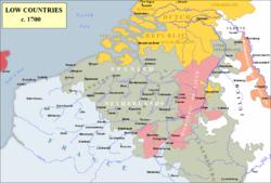 1700年的西属尼德兰(灰色)
