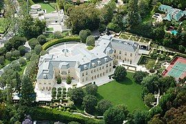 a Beverly Hills mansion