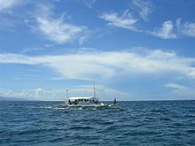 Camotes sea - outrigger - near Olango island.jpg