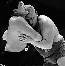 Masa Saito vs Arne Robertsson, Tokyo 1964.jpg