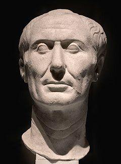 The Tusculum portrait, a marble sculpture of Julius Caesar.