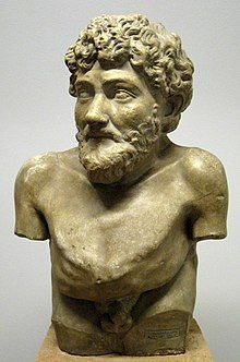 Hellenistic statue thought to depict Aesop, Art Collection of Villa Albani, Rome